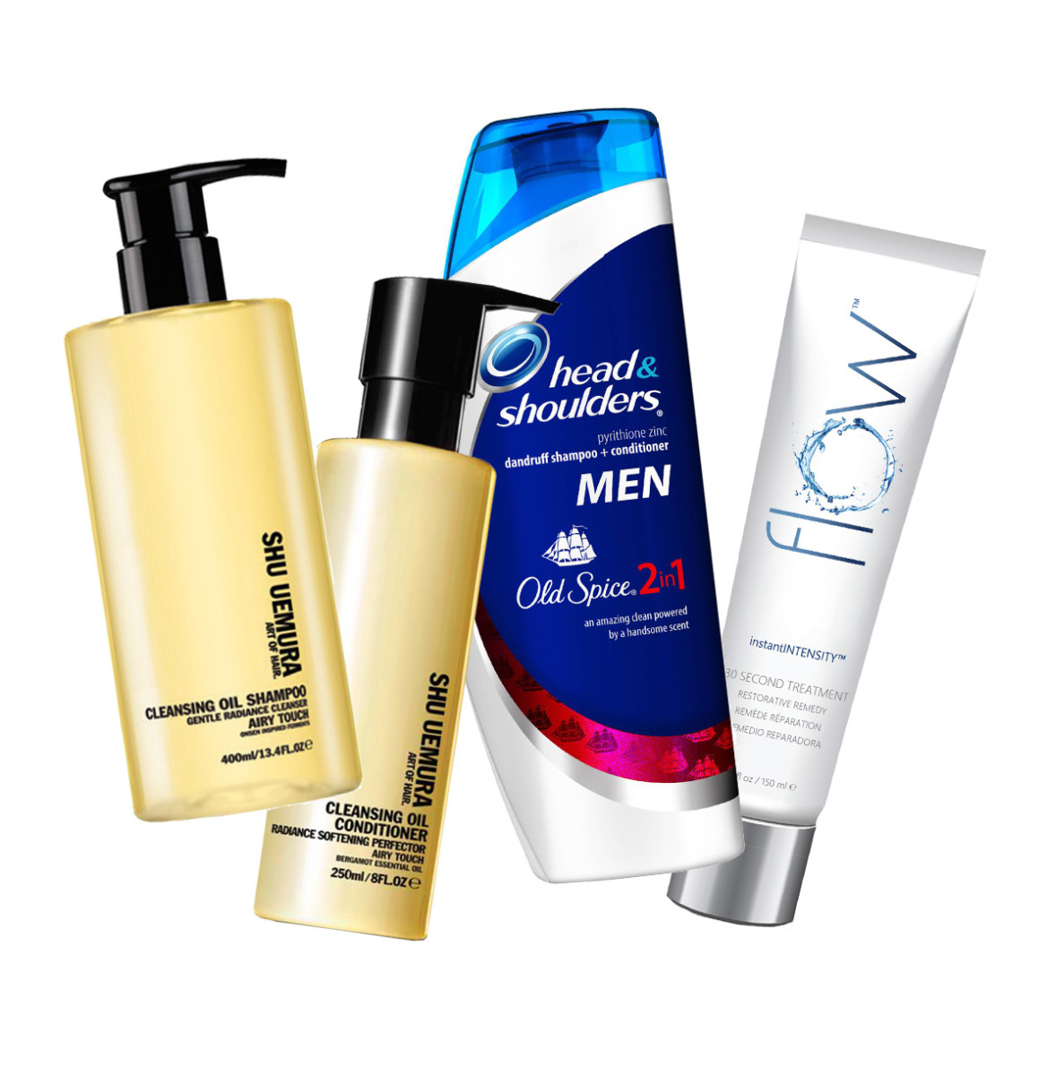 Shu Uemura Cleansing Oil Shampoo Conditioner Head and Shoulders 2-in-1 Flow 30 Second Treatment