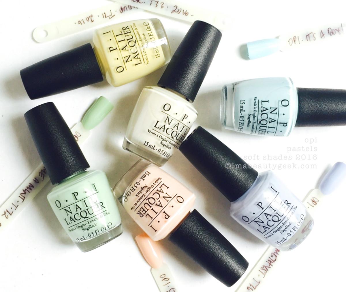 OPI Soft Shades 2016 Pastels - Version 2