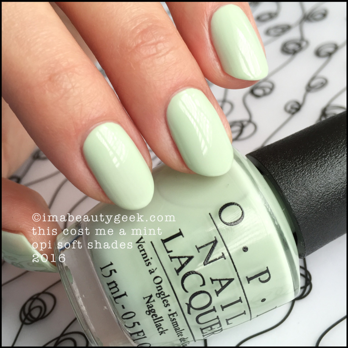 OPI This Cost Me A Mint_OPI Soft Shades 2016 Pastels Swatches