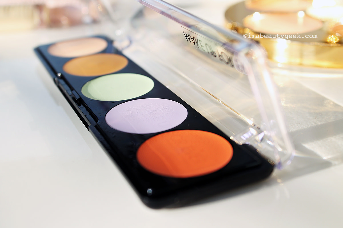 simplifying color correcting_Make Up For Ever 5 Camouflage Cream Palette Color Correct and Concealer