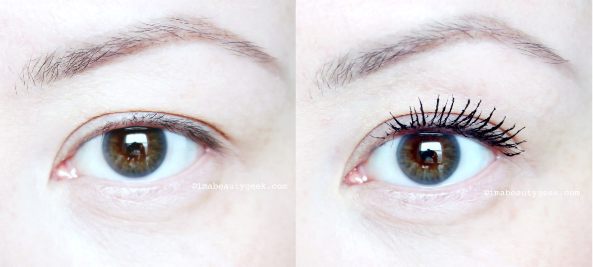 Revlon Ultimate All-In-One Mascara before and after