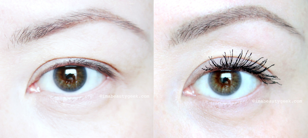 Revlon Ultra Volume Mascara before and after_www.imabeautygeek.com