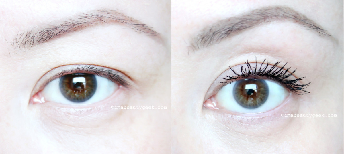 Revlon Volume + Length Magnified Mascara before and after_www.imabeautygeek.com