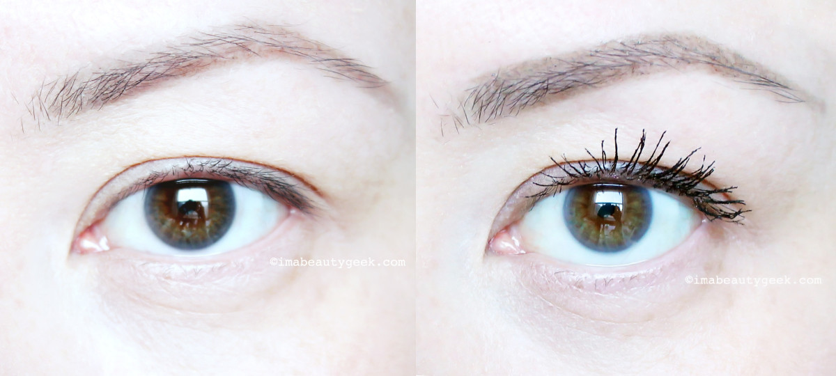 Revlon Super Length Mascara before and after_www.imabeautygeek.com