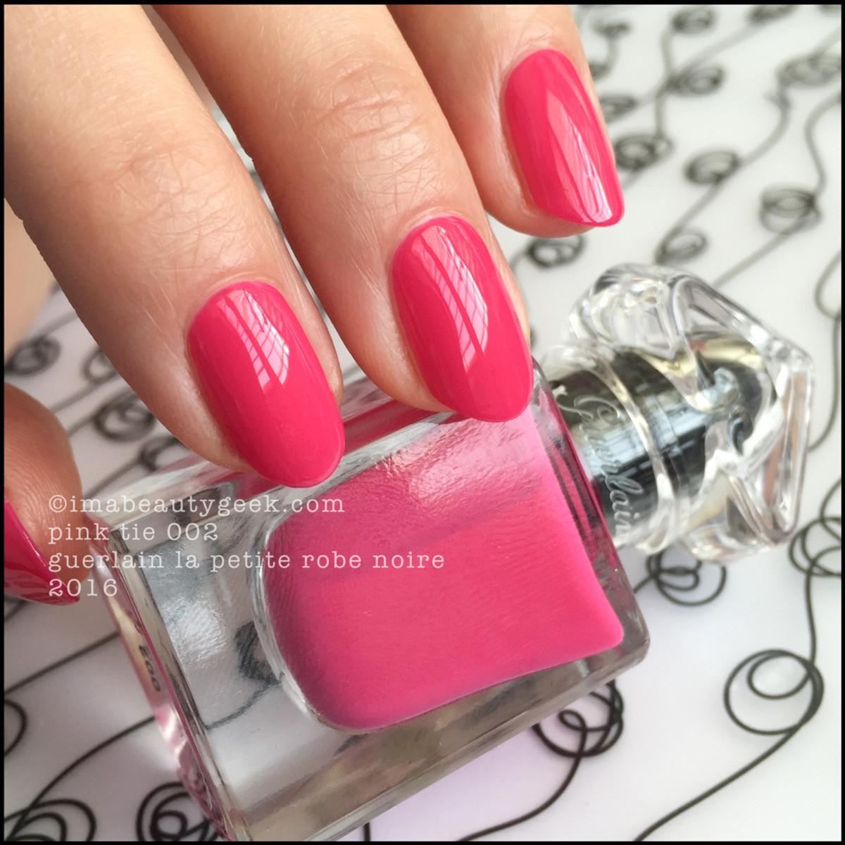 Guerlain La Petite Robe Noire_Guerlain Pink Tie 002 Nail