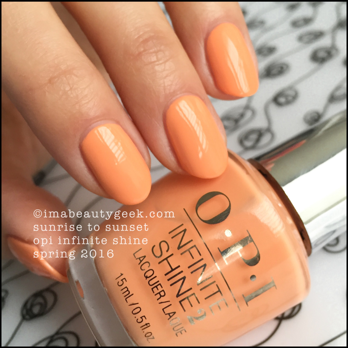 OPI Infinite Shine Swatches_OPI Sunrise To Sunset 2016
