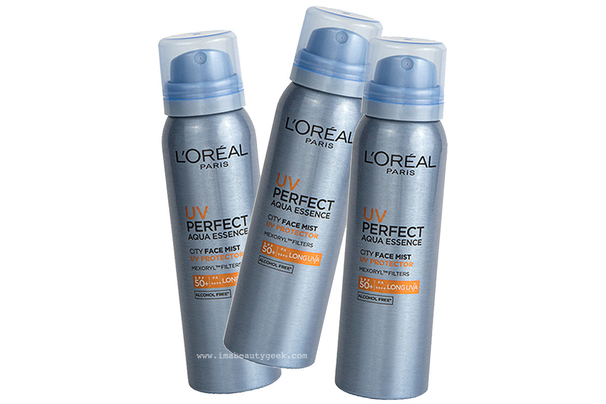 Loreal Paris Uv Perfect City Mist Spf 50 Beautygeeks Sunscreen Spf50 Face Loral Aqua Essence Protector