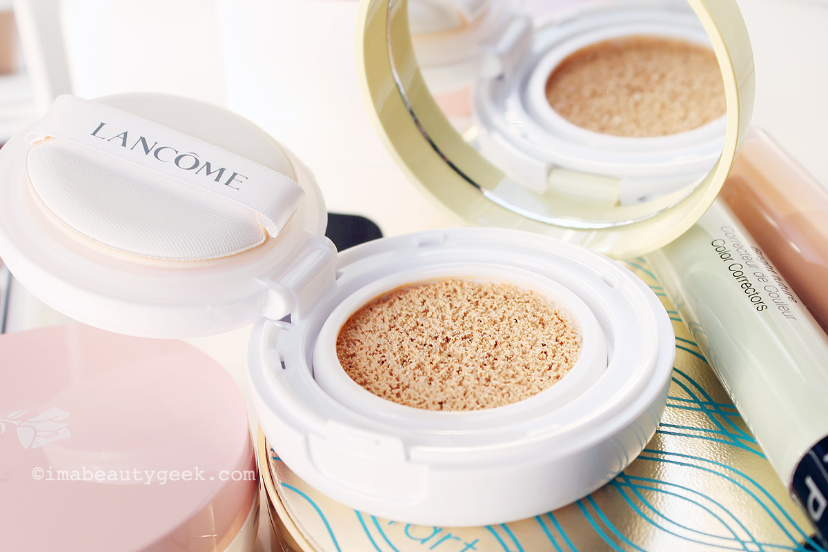 How to correct dark brownish circles_Lancôme Miracle CC Cushion Color Correcting Primer in Yellow