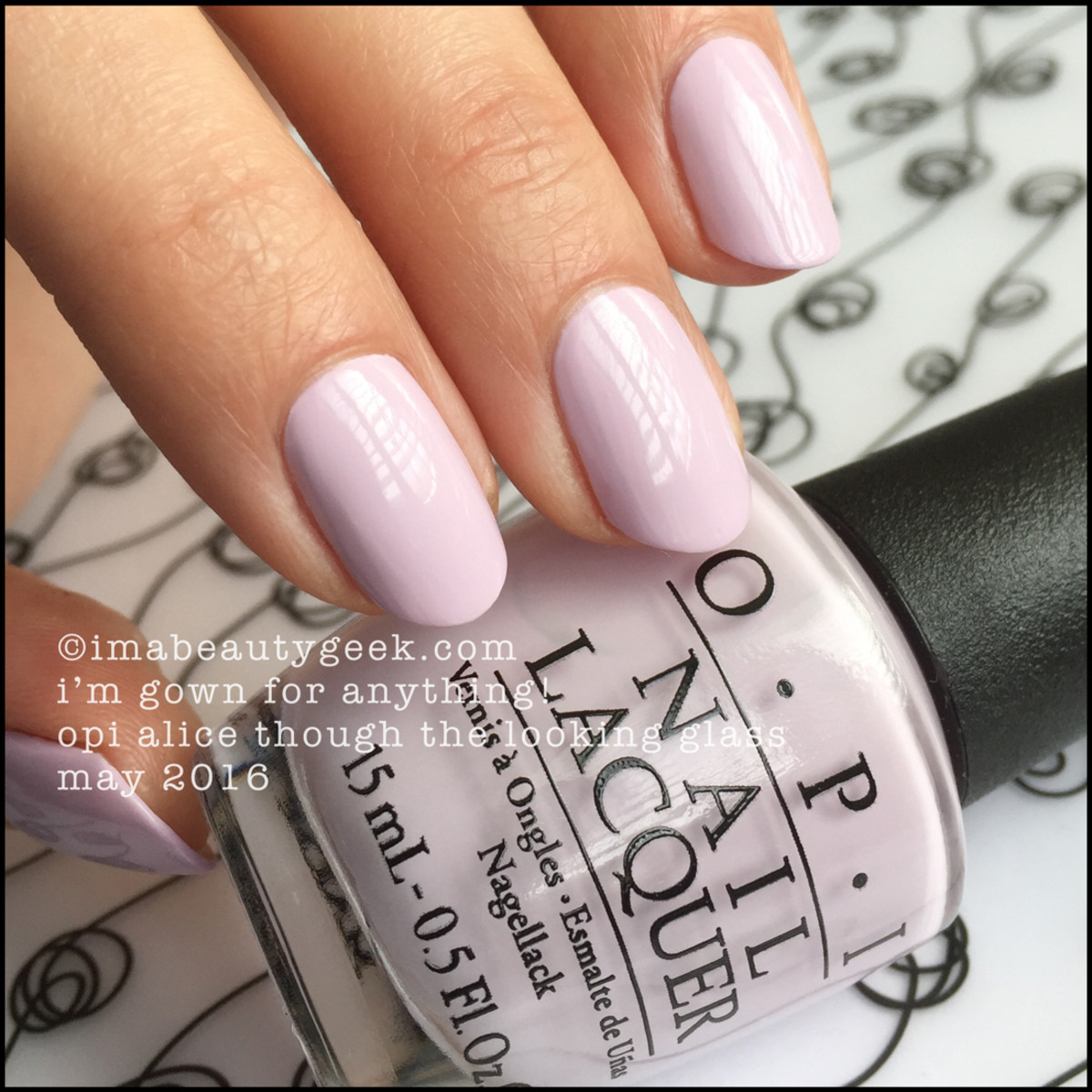 OPI Im Gown for Anything_OPI Alice Through the Looking Glass Swatches