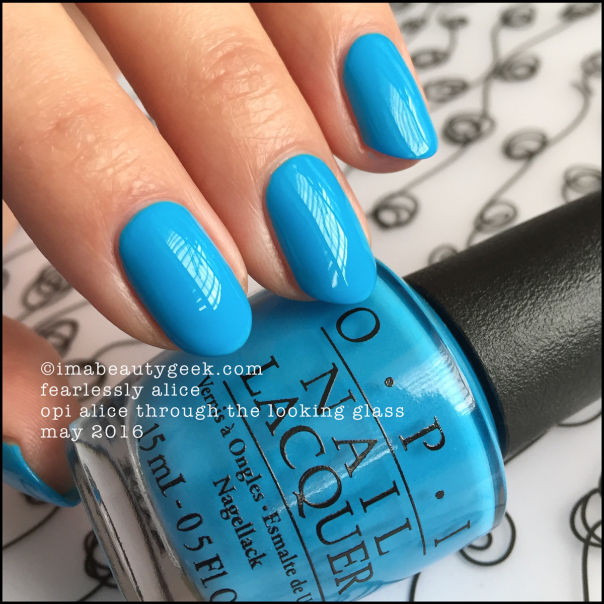 OPI Fearlessly Alice_OPI Alice Through the Looking Glass Swatches 2016