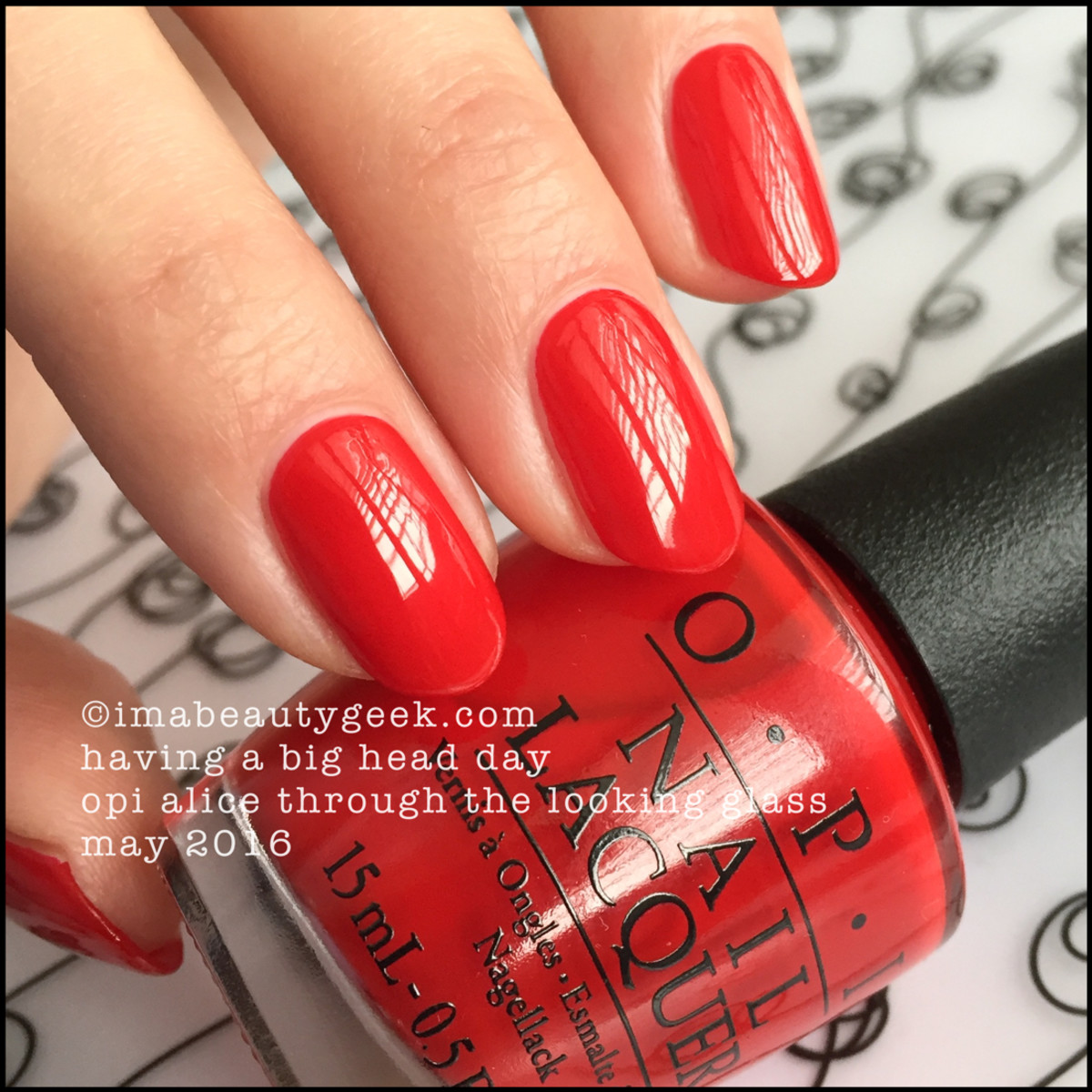OPI Having a Big Head Day_OPI Alice Through the Looking Glass Swatches 2016
