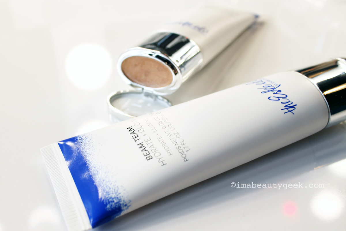 The Estée Edit Beam Team Hydrate + Glow moisturizer plus luminizing cream in the lid