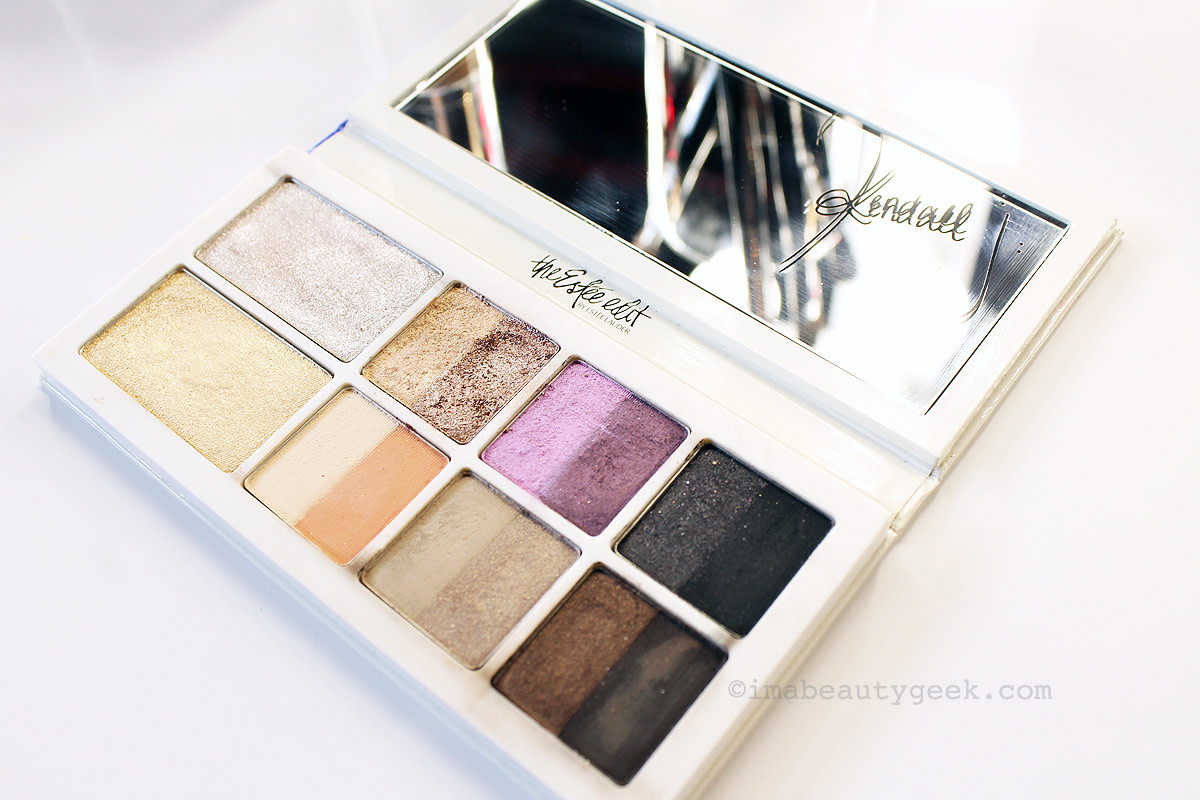 The Estée Edit The Edit Eyeshadow Palette of satin, pearl and sparkle finishes plus two black light transformer shades