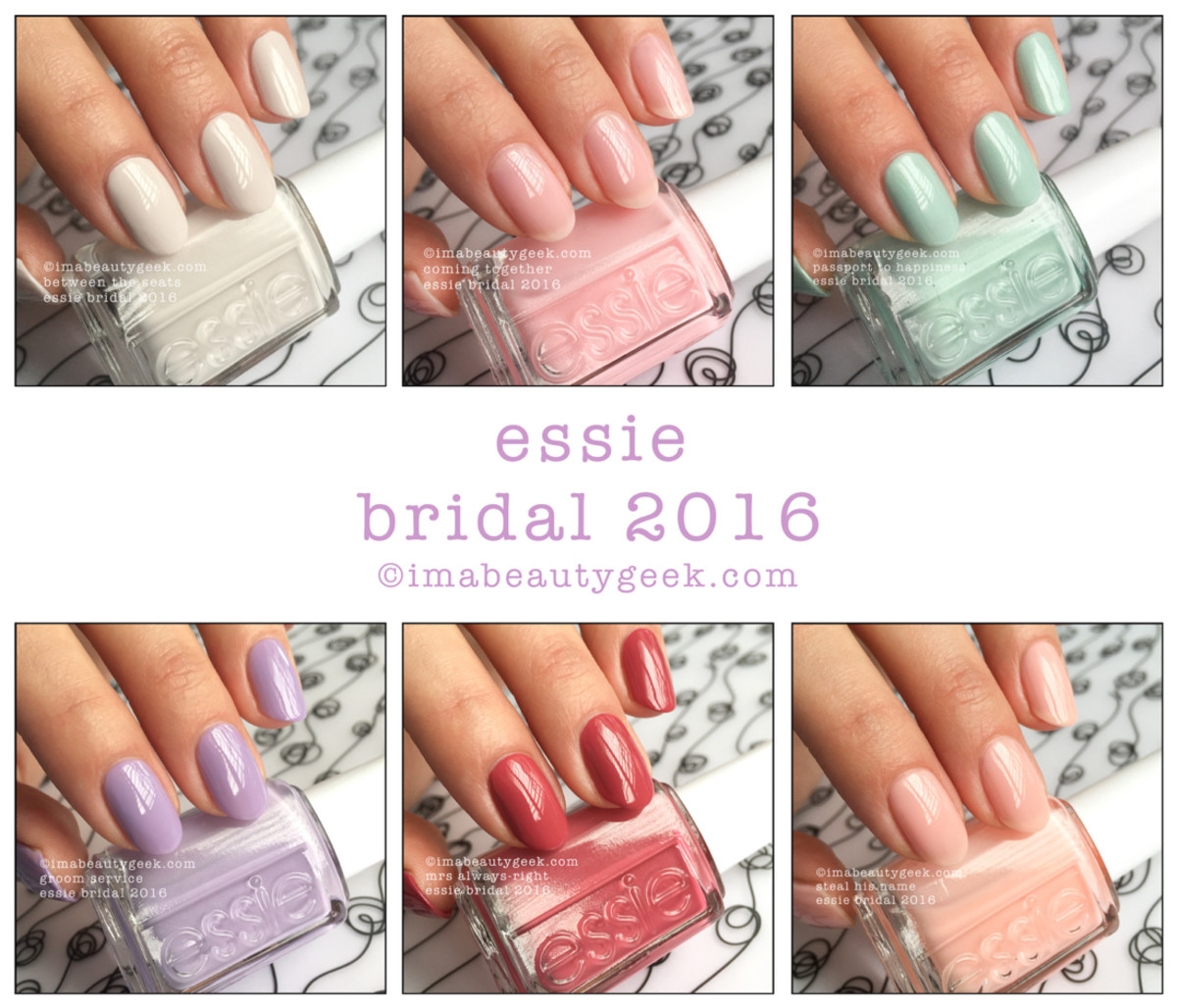 Essie Bridal 2016 Swatches and Review