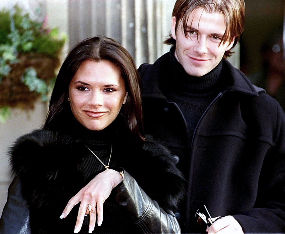 Victoria Adams and David Beckham in 1998
