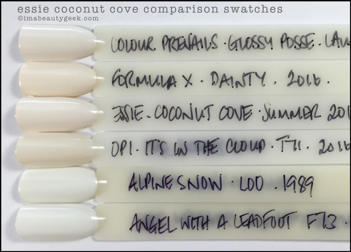Essie Coconut Cove Comparison Swatches Dupes_Essie Summer 2016