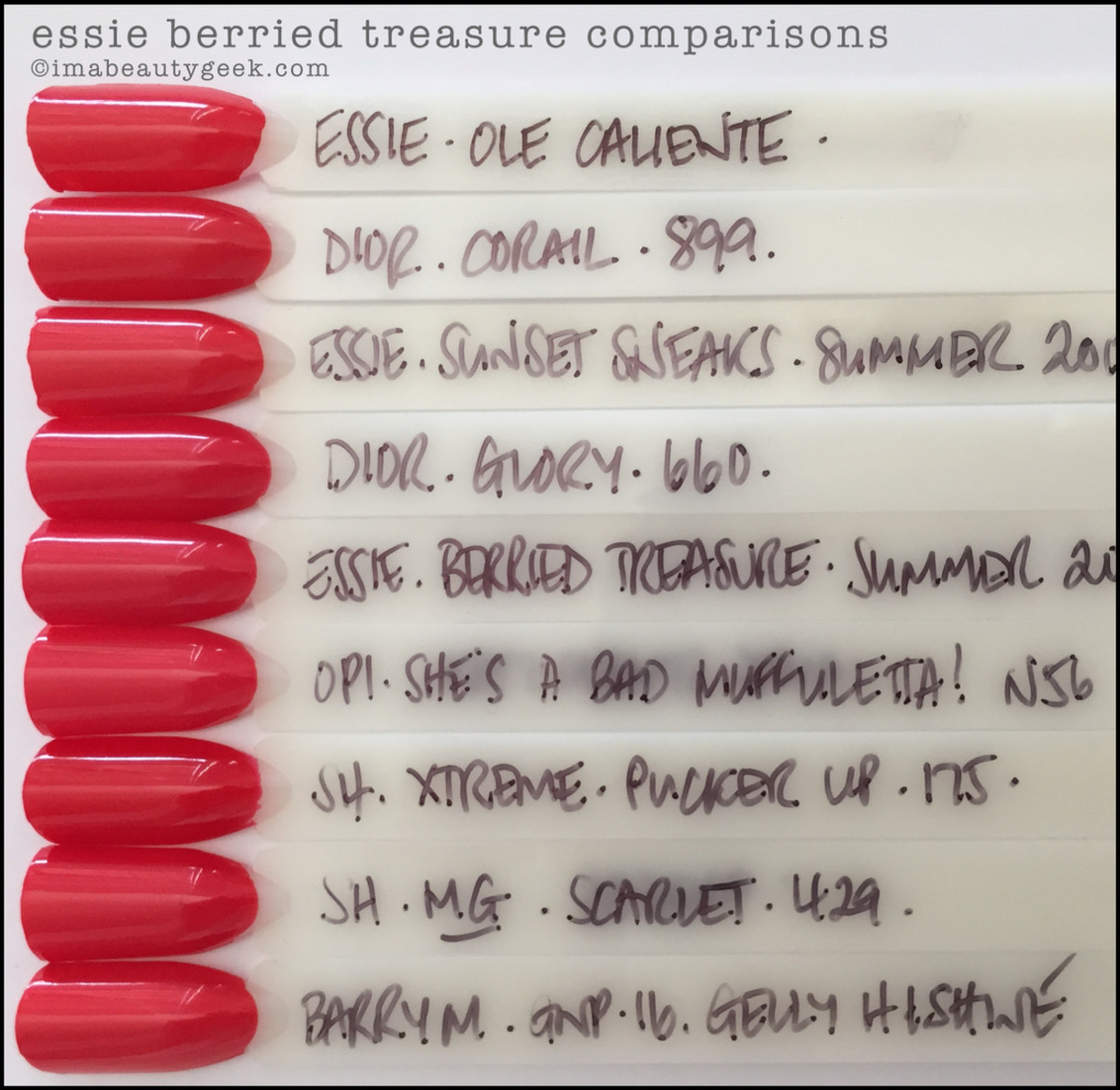 Essie Berried Treasure Comparison Swatches Dupes_Essie Summer 2016
