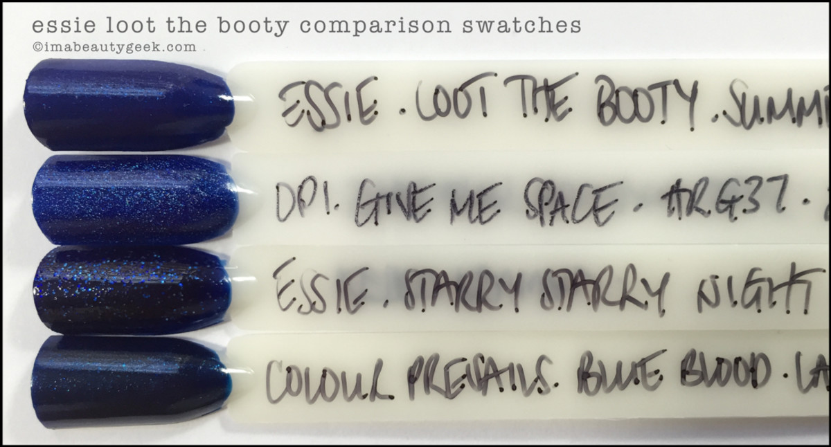 Essie Loot the Booty Comparison Swatches Dupe_Essie Summer 2016