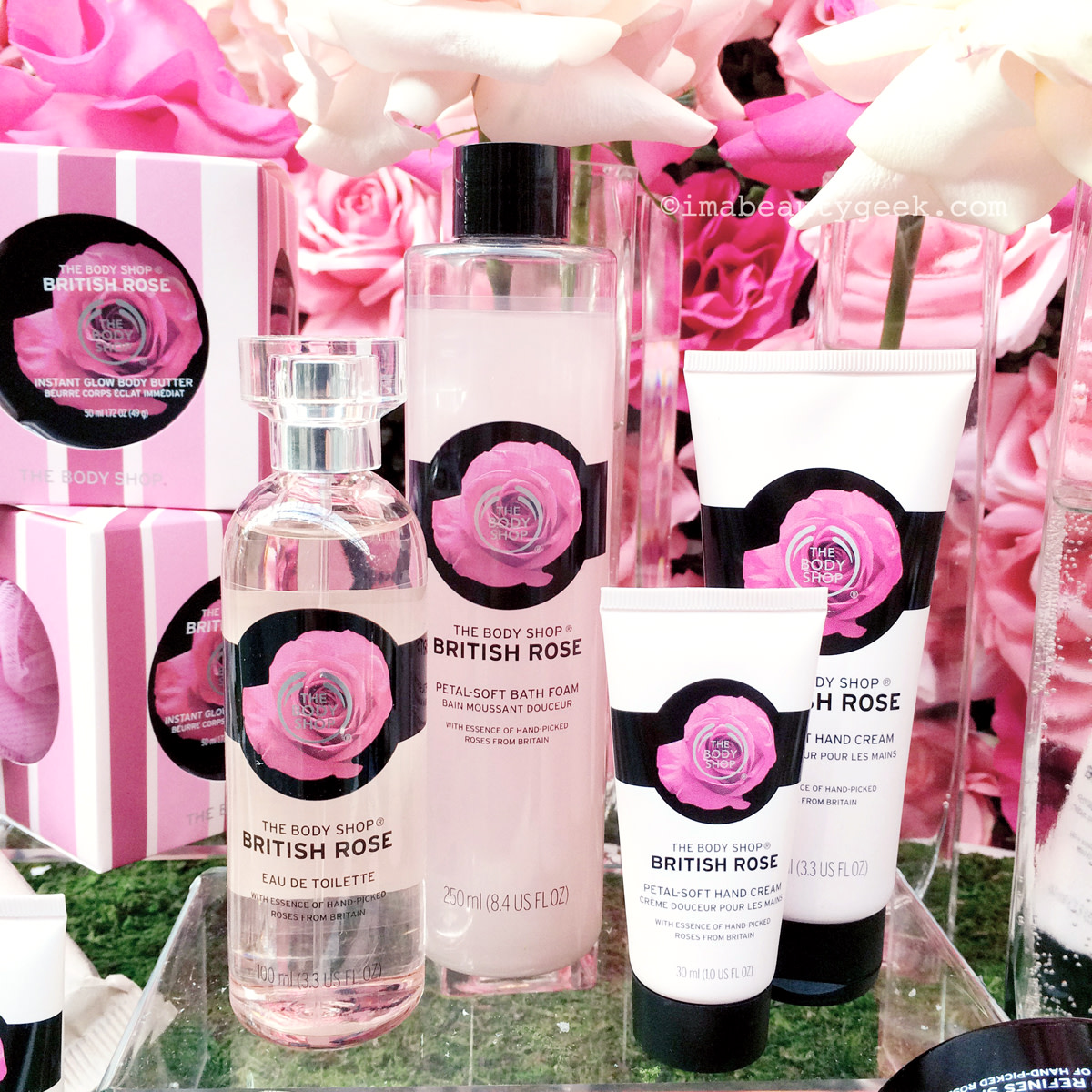 The Body Shop British Rose_items from the collection