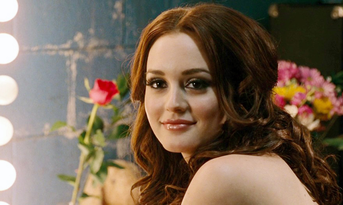 "Leighton Meester in Country Strong: ""Big hair, lots of fake eyelashes, fake nails, lipliner, lipstick, blush, eyeshadow – the works,"" she says."