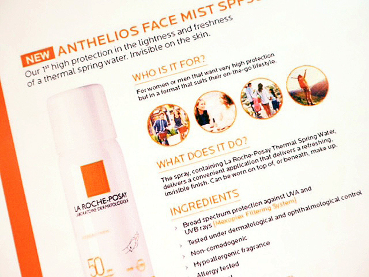 La Roche Posay Anthelios Face Mist SPF 50 launches in the UK in May 2016