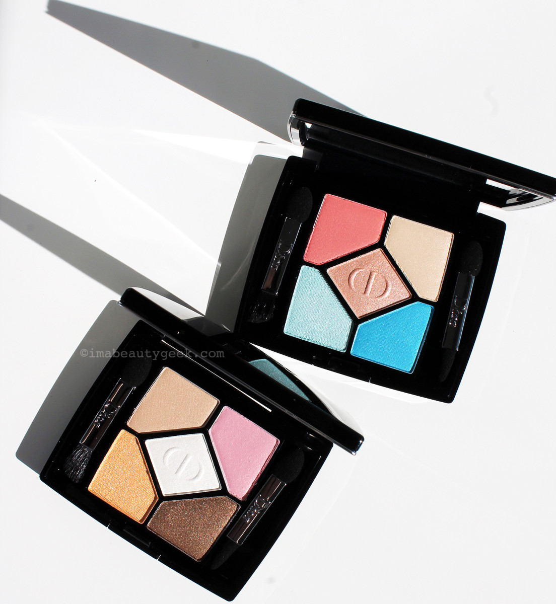 Dior 5-Colour Eyeshadow palettes in 366 Bain de Mer (top) and 536 Escapade