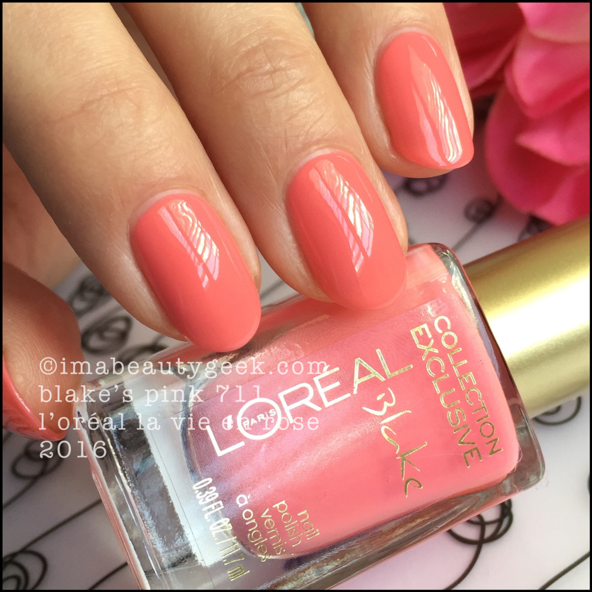 LOreal Blakes Pink 711_LOreal La Vie En Rose Nail Collection 2016