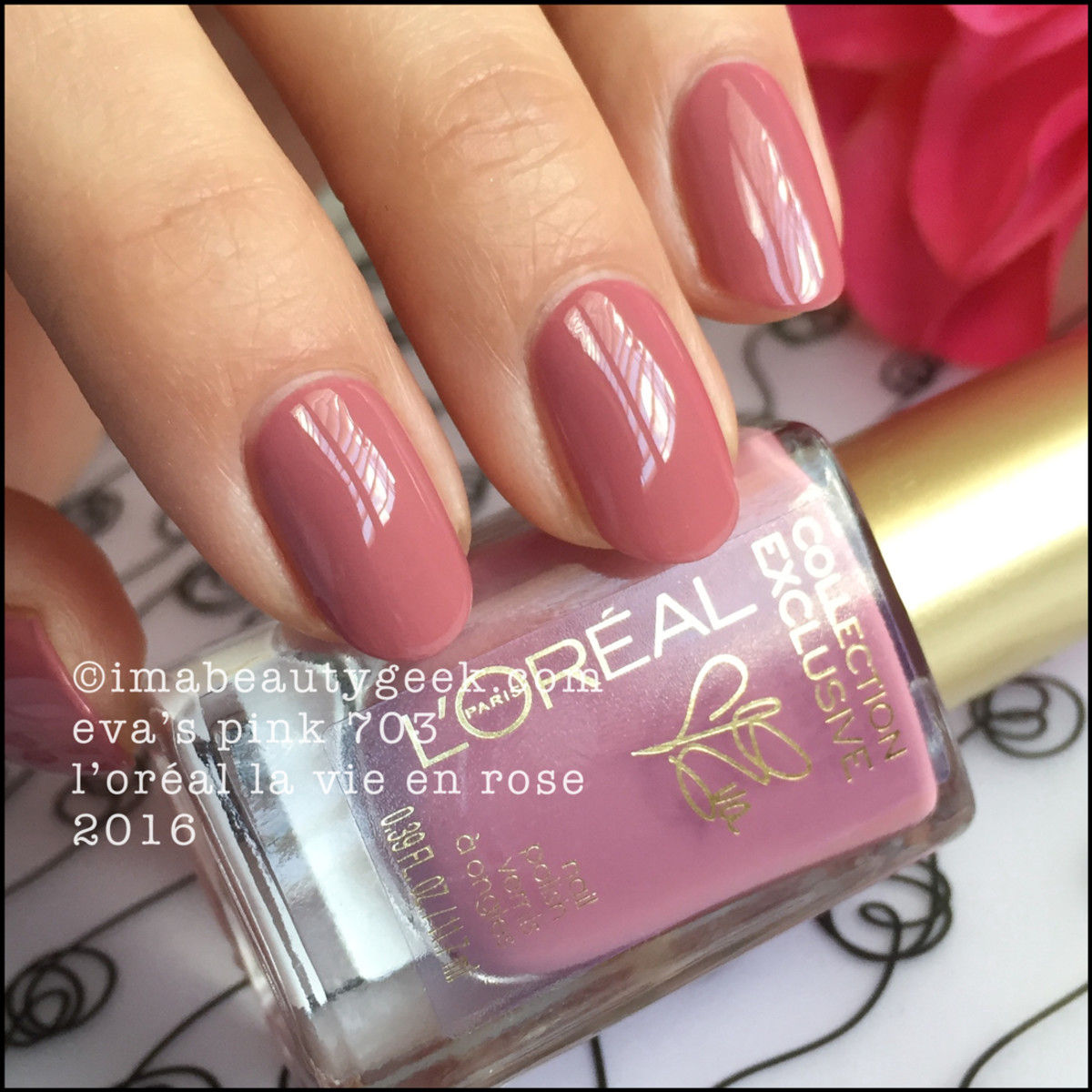 LOreal Jennifers Pink 705_LOreal La Vie En Rose Nail Collection 2016