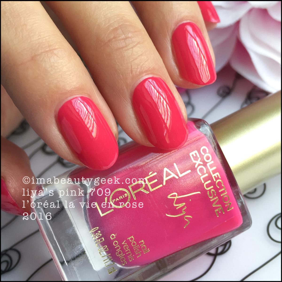 LOreal Liyas Pink 709_LOreal La Vie En Rose Nail Collection 2016