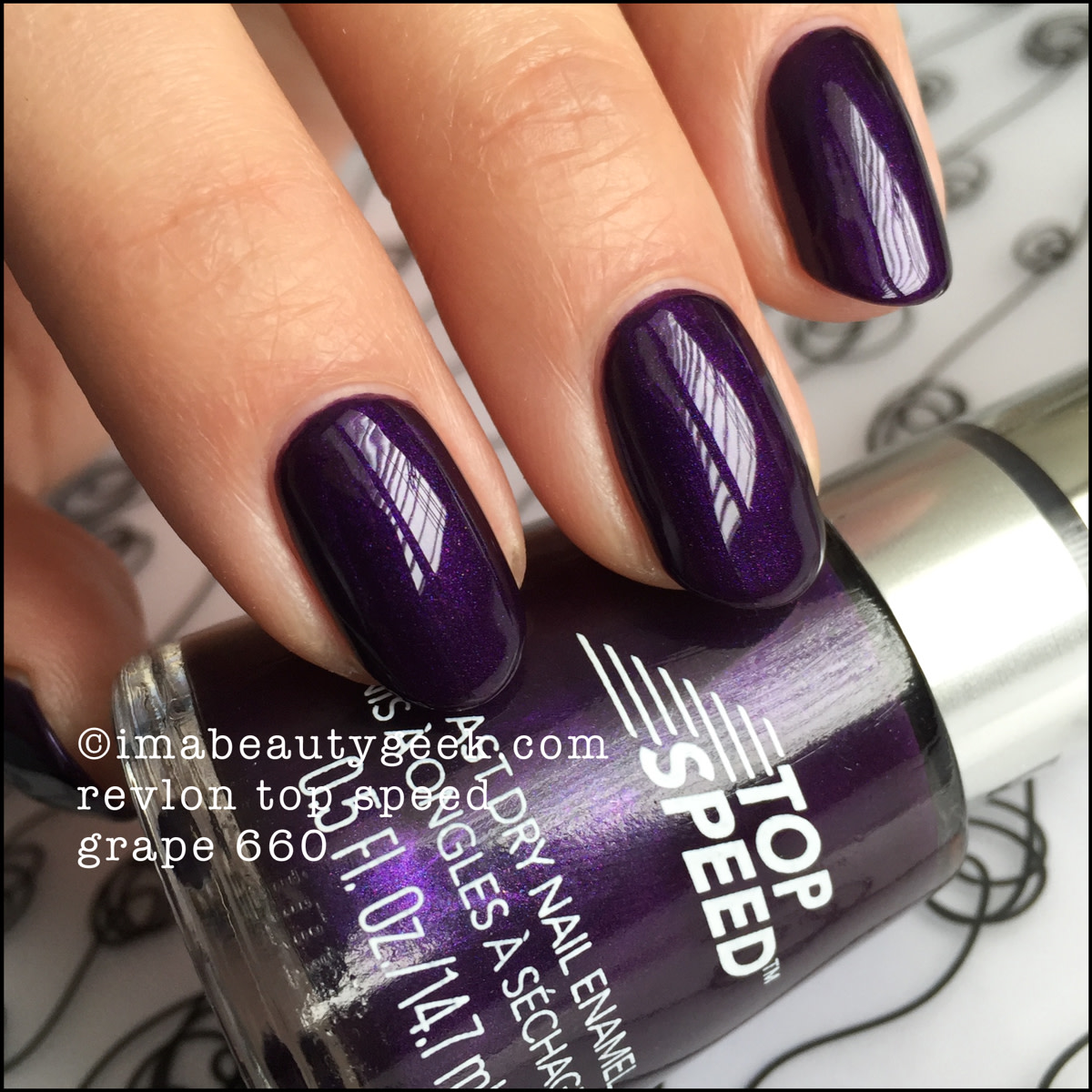 Revlon Nail Polish Grape 660_Revlon Top Speed Grape Polish