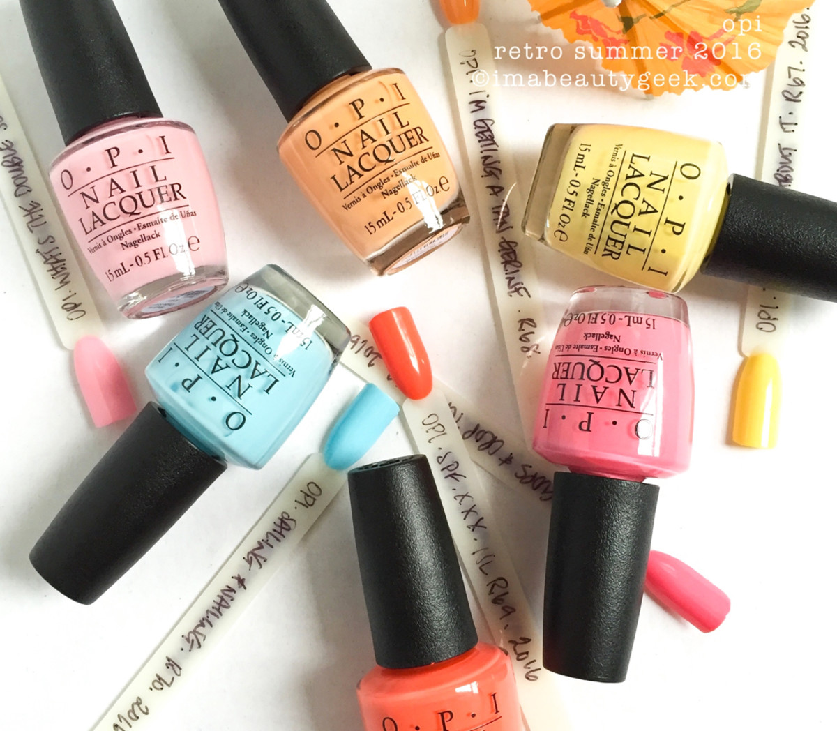 OPI Retro Summer 2016 Swatches Review Comparisons