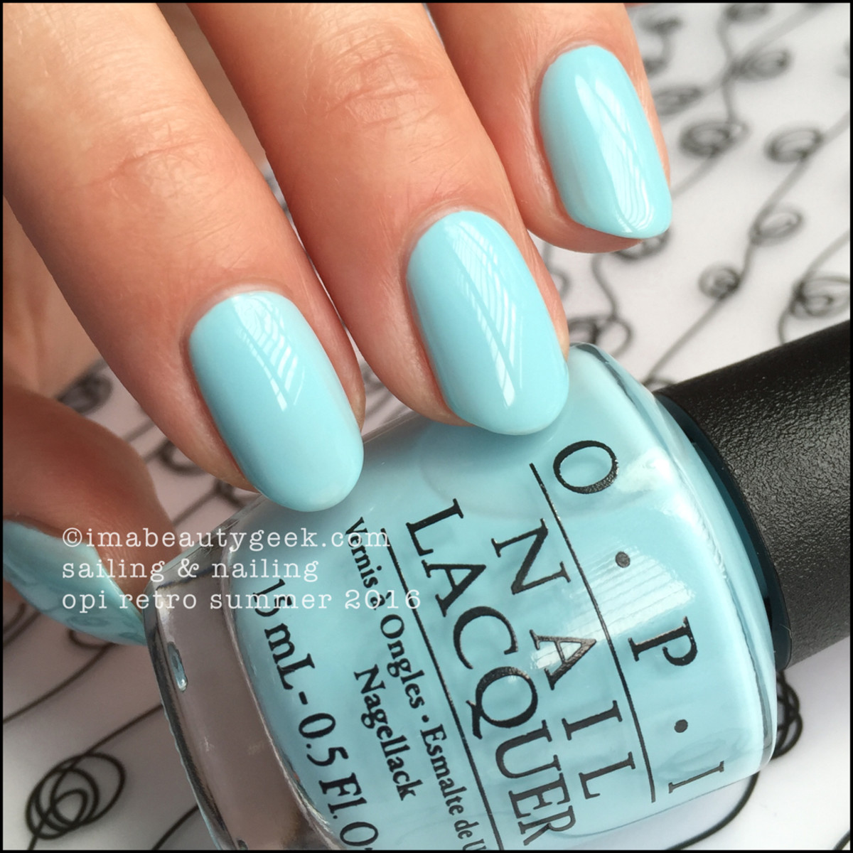 OPI Sailing and Nailing_OPI Retro Summer 2016 Swatches Review