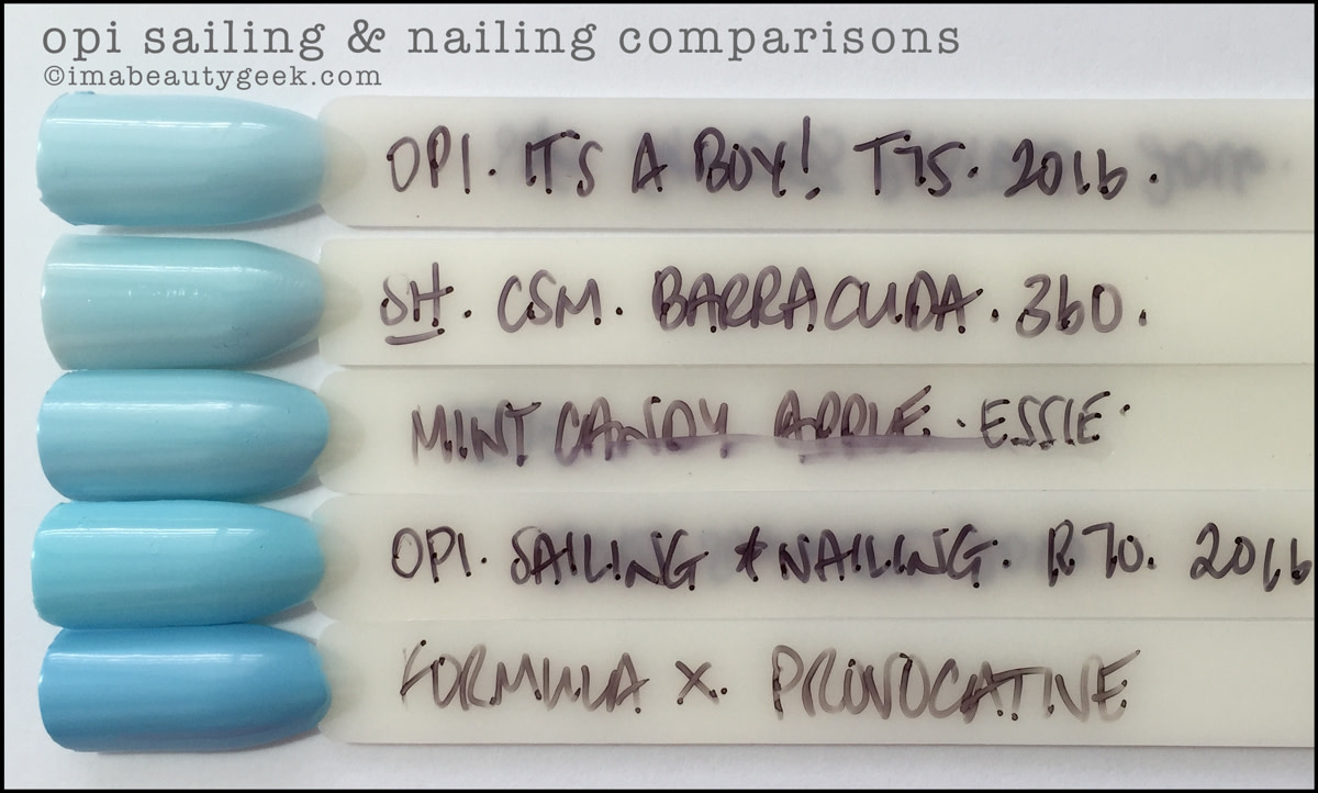 OPI Sailing and Nailing Comparison Swatches Dupes_OPI Retro Summer 2016