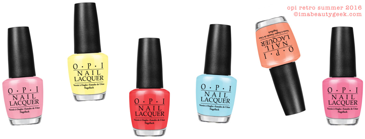OPI Retro Summer Collection Swatches Review Comparisons