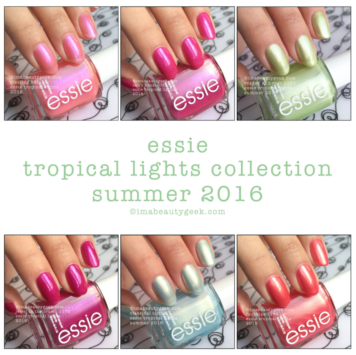 Essie Tropical Lights Collection Swatches Review 2016