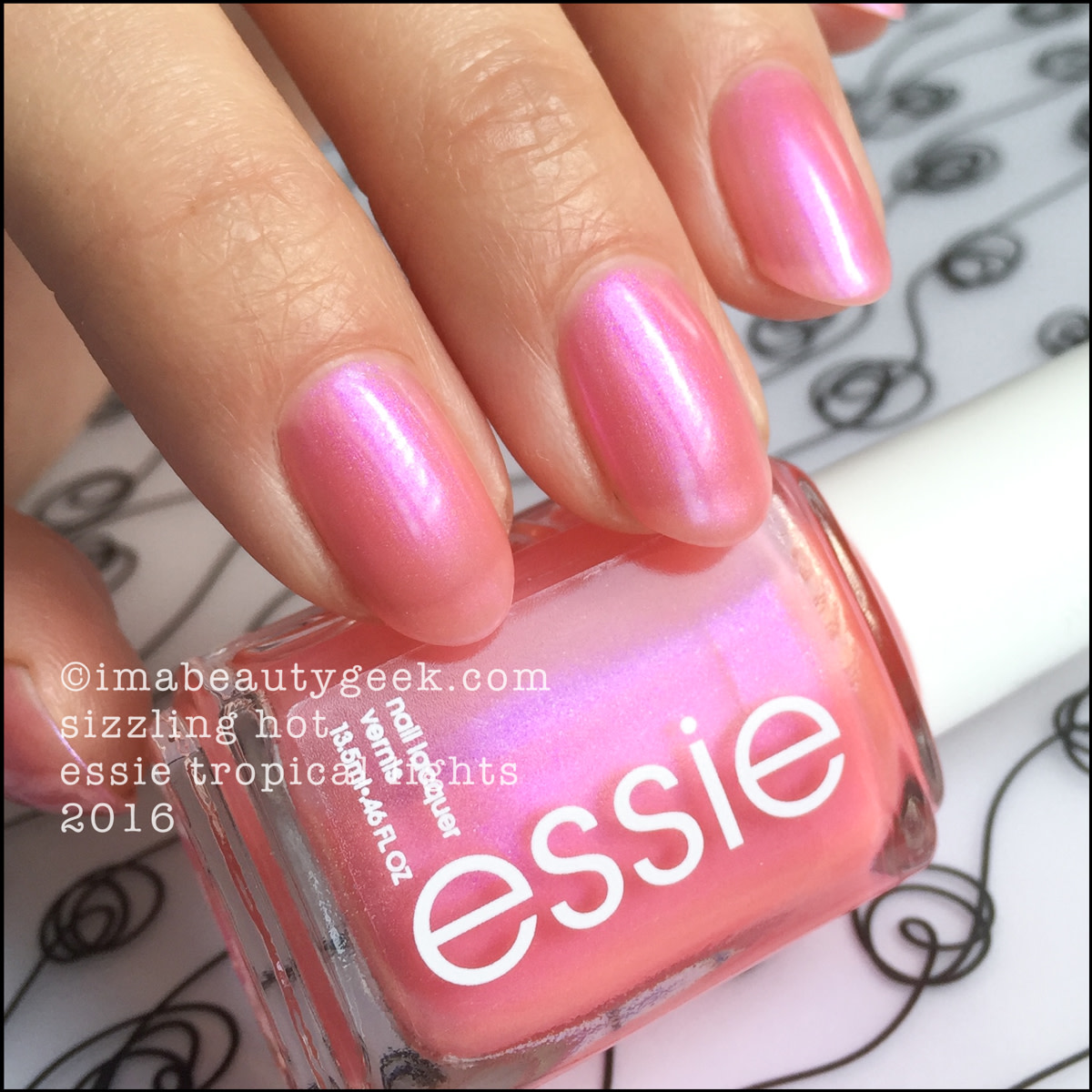 Essie Sizzling Hot_Essie Tropical Lights Collection 2016
