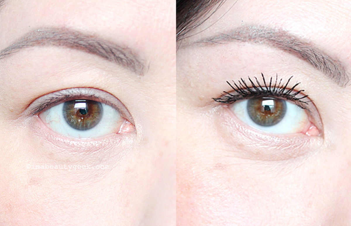 Maybelline Lash Sensational Full Fan Effect Mascara before and after