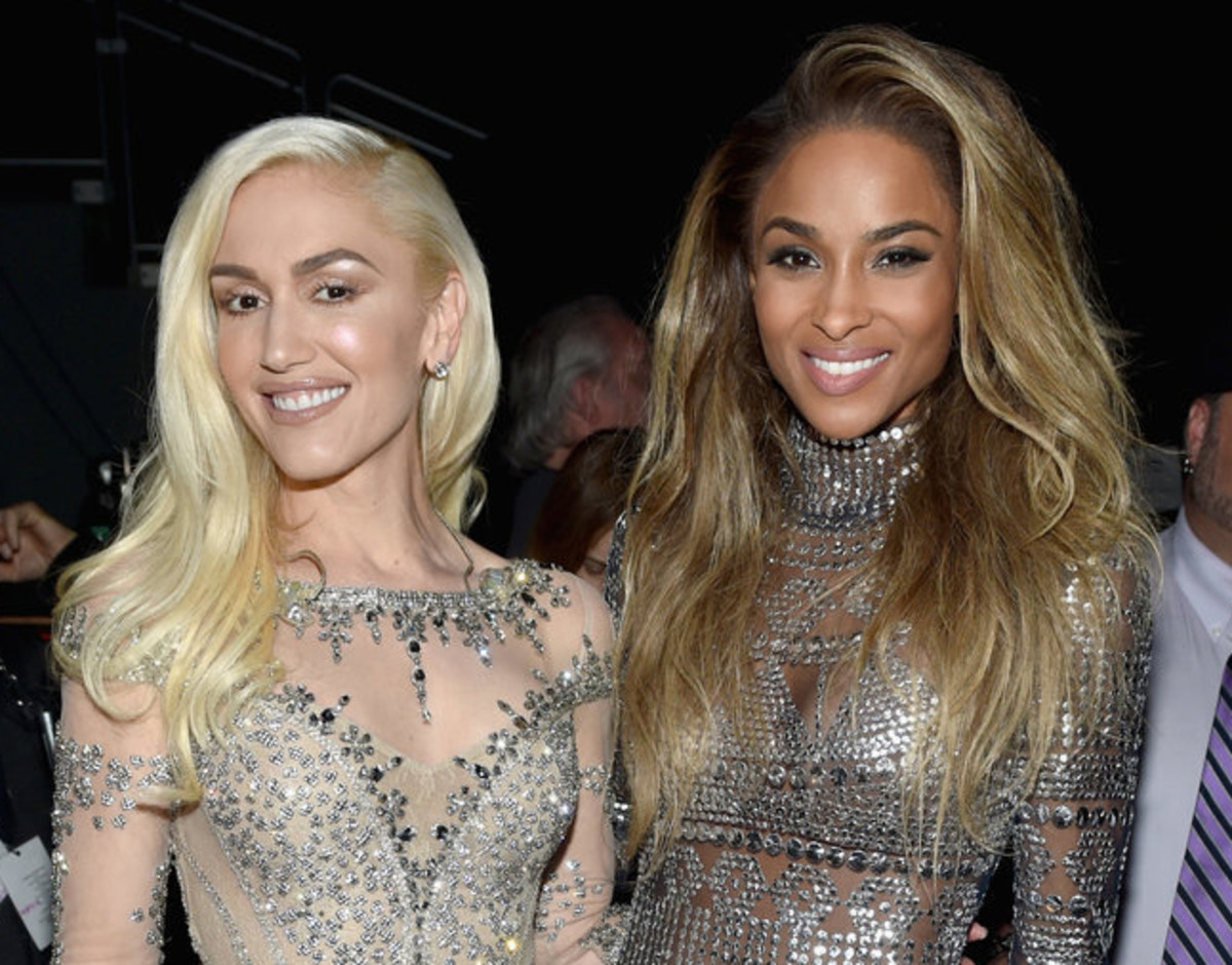 Gwen Stefani nude makeup with Ciara_2016 Billboard Music Awards