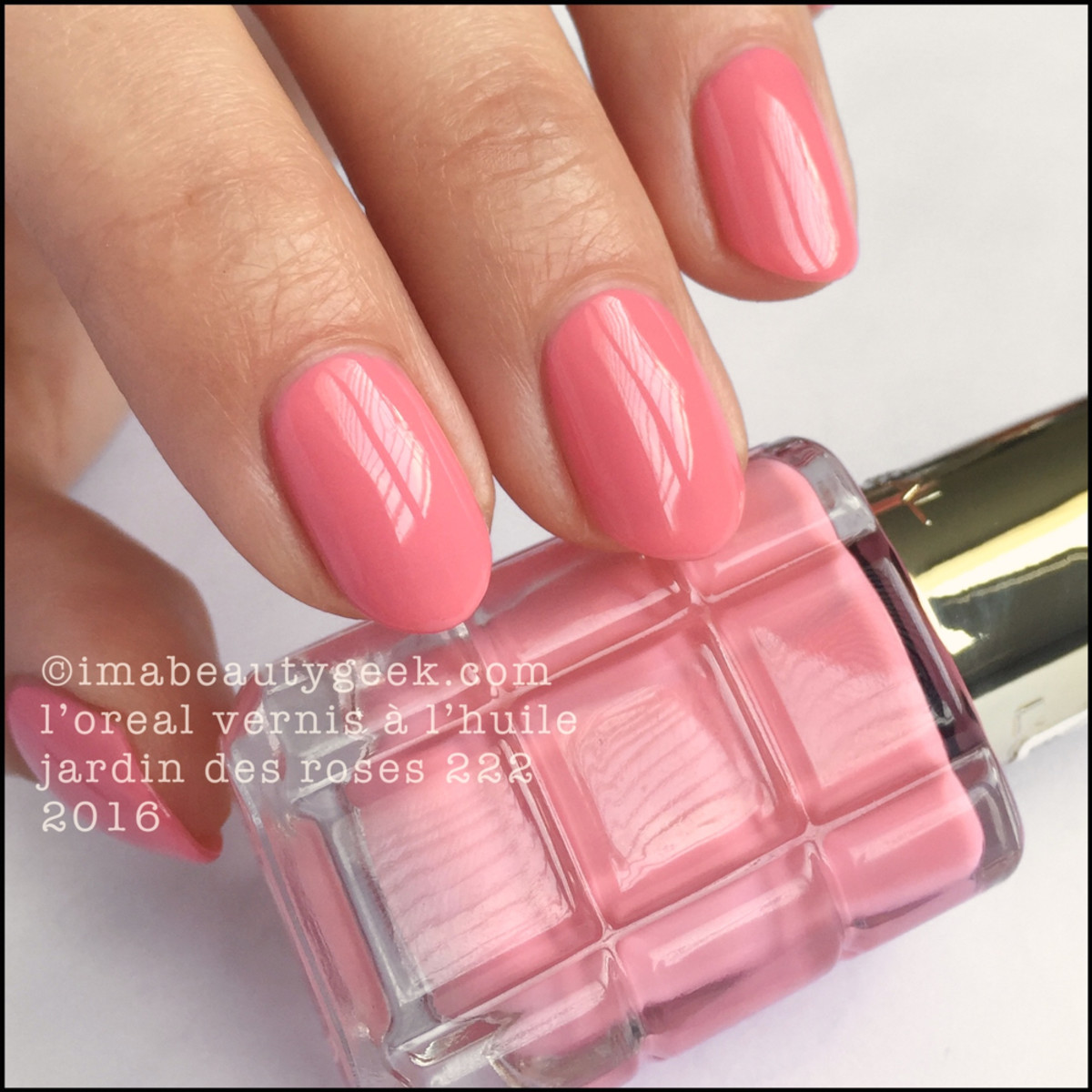 L oreal vernis a l huile swatches review beautygeeks for L oreal jardin pamplemousse