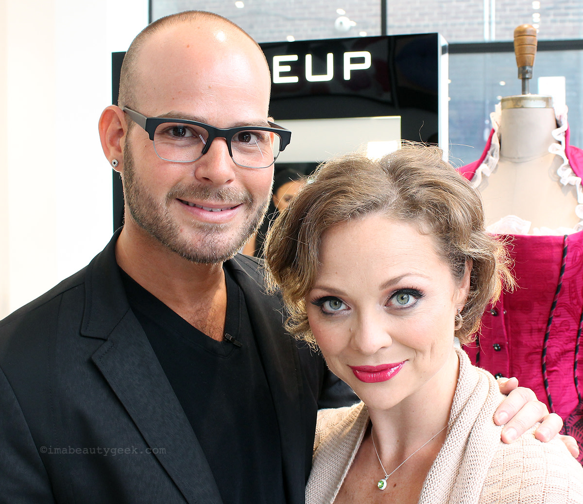 Broadway makeup designer Brian Strumwasser and Broadway actress Kristen Beth Williams