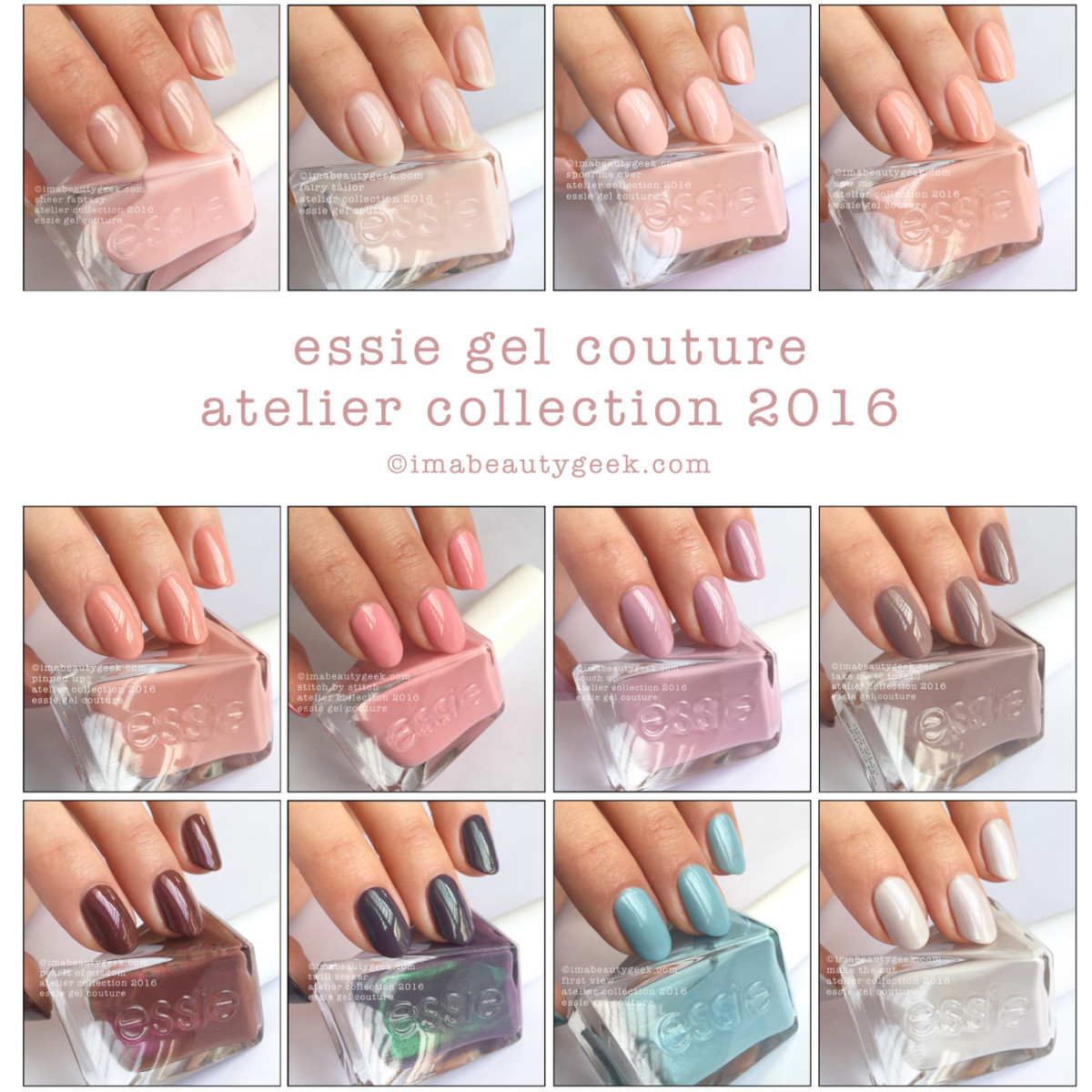 Essie Gel Couture: Atelier Collection