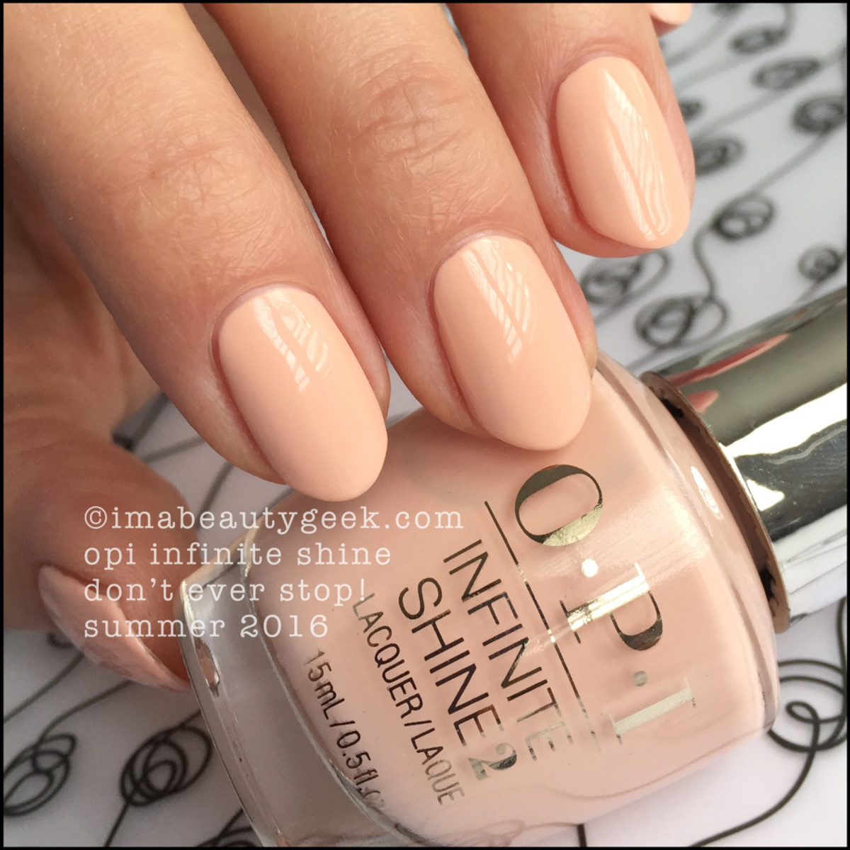 OPI Infinite Shine Summer 2016 Collection Swatches_OPI IS Dont Ever Stop Neutrals