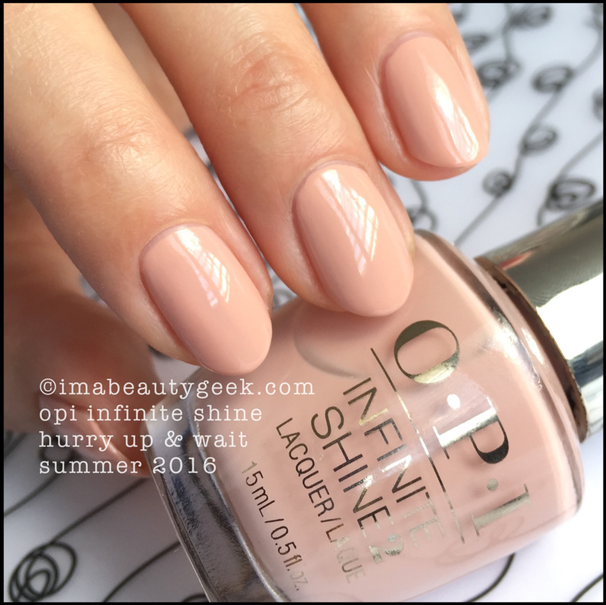 OPI Infinite Shine Hurry Up and Wait_OPI Infinite Shine swatches Summer 2016