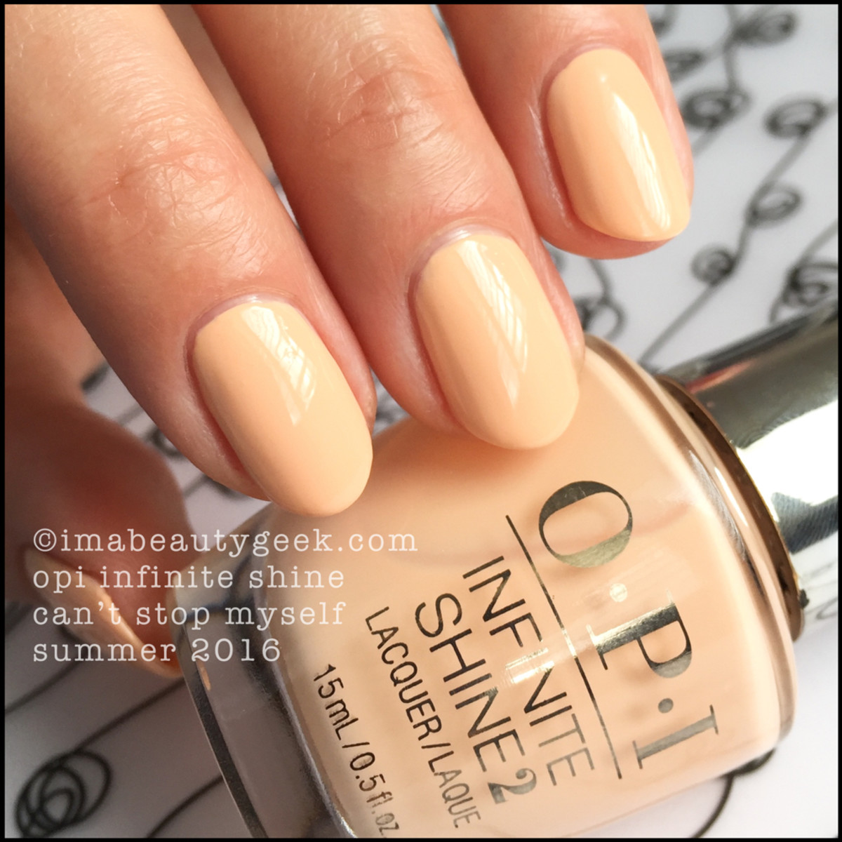 OPI Infinite Shine Can't Stop Myself_OPI Infinite Shine Summer 2016 Neutrals