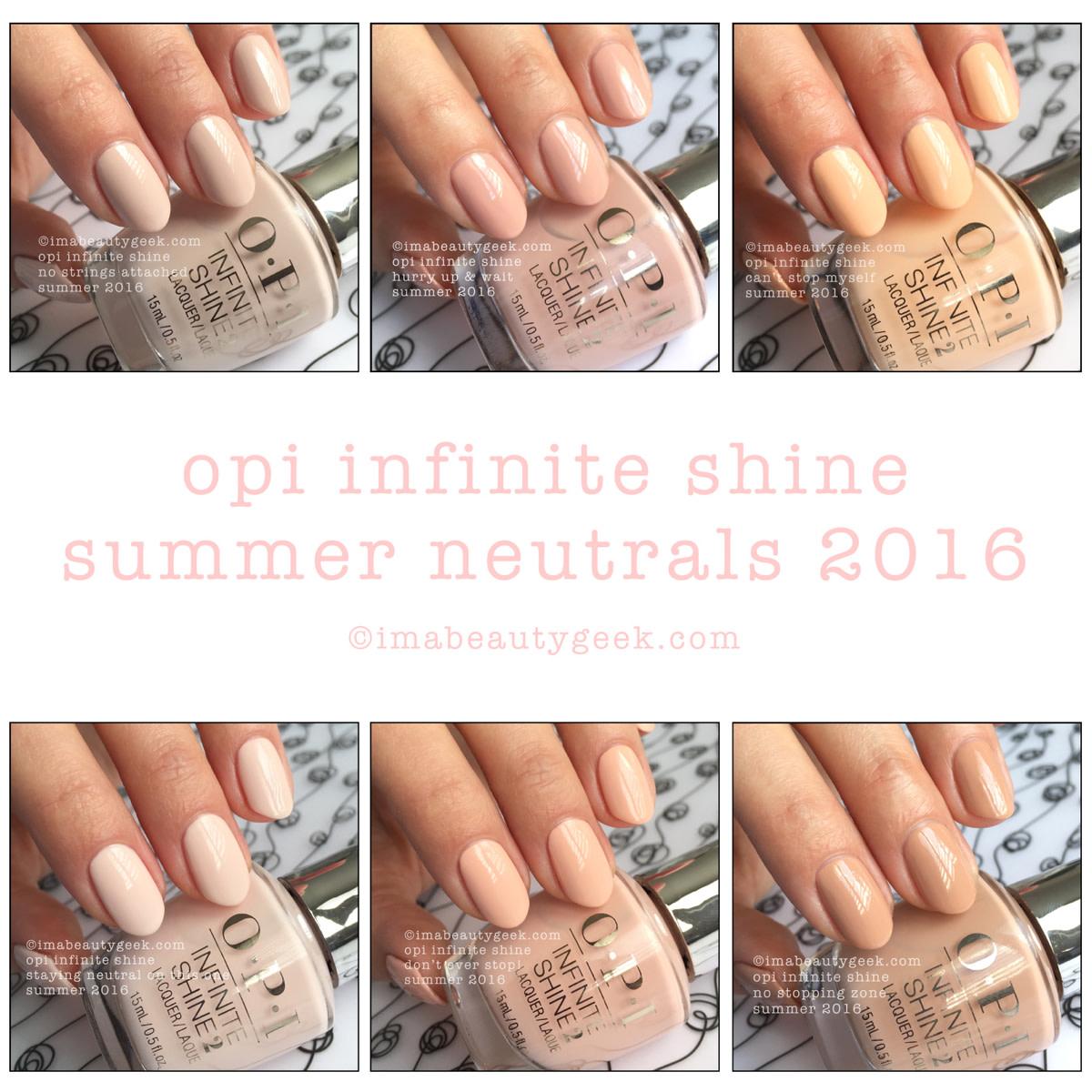 OPI Infinite Shine Summer Neutrals 2016