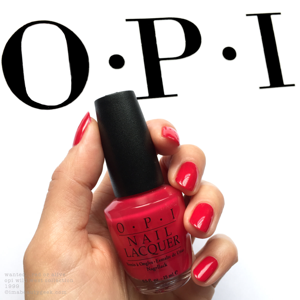 OPI Wanted Red or Alive_OPI Wild West Collection 1999