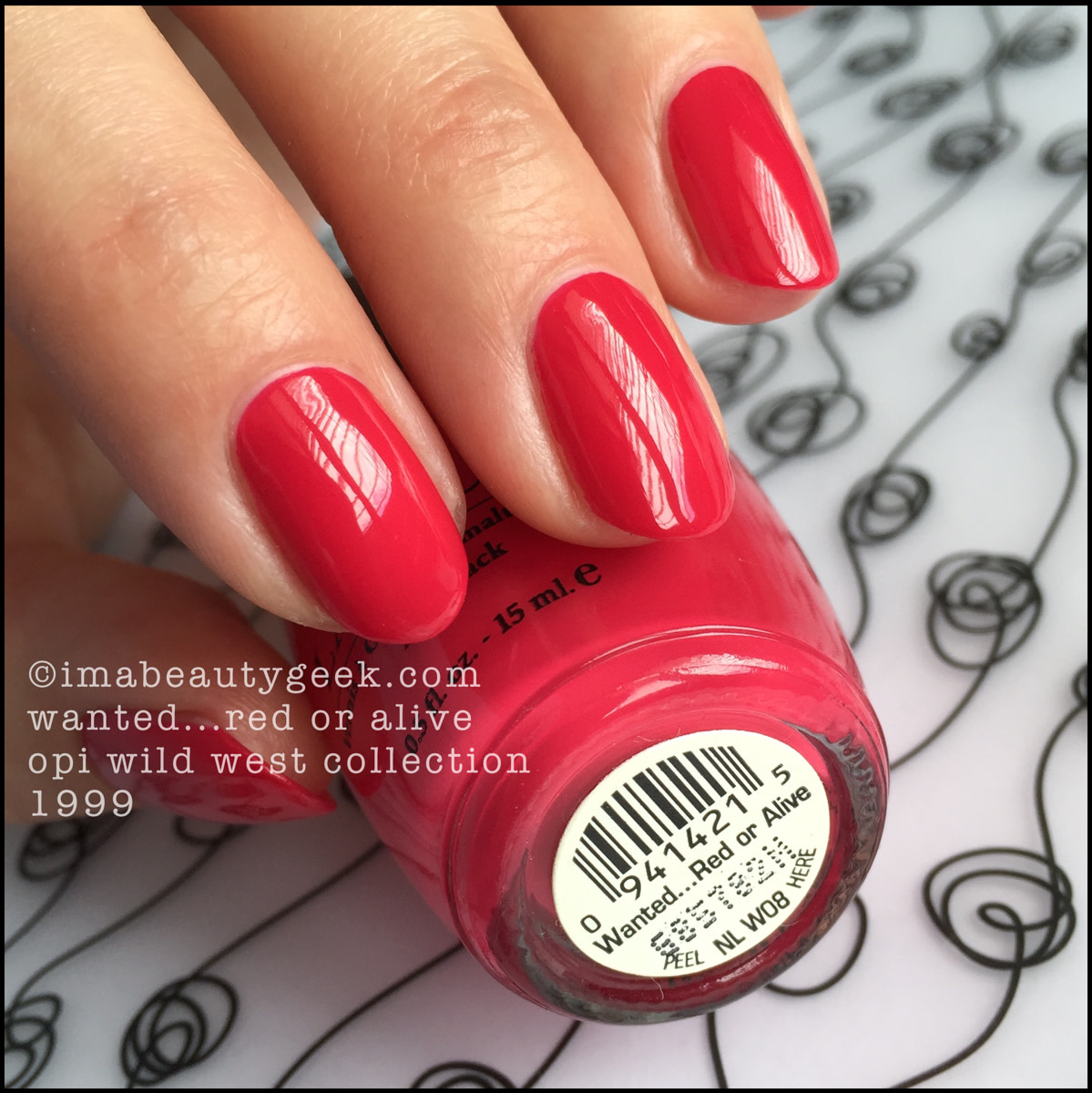OPI Wanted Red Or Alive 1999 Wild West Collection
