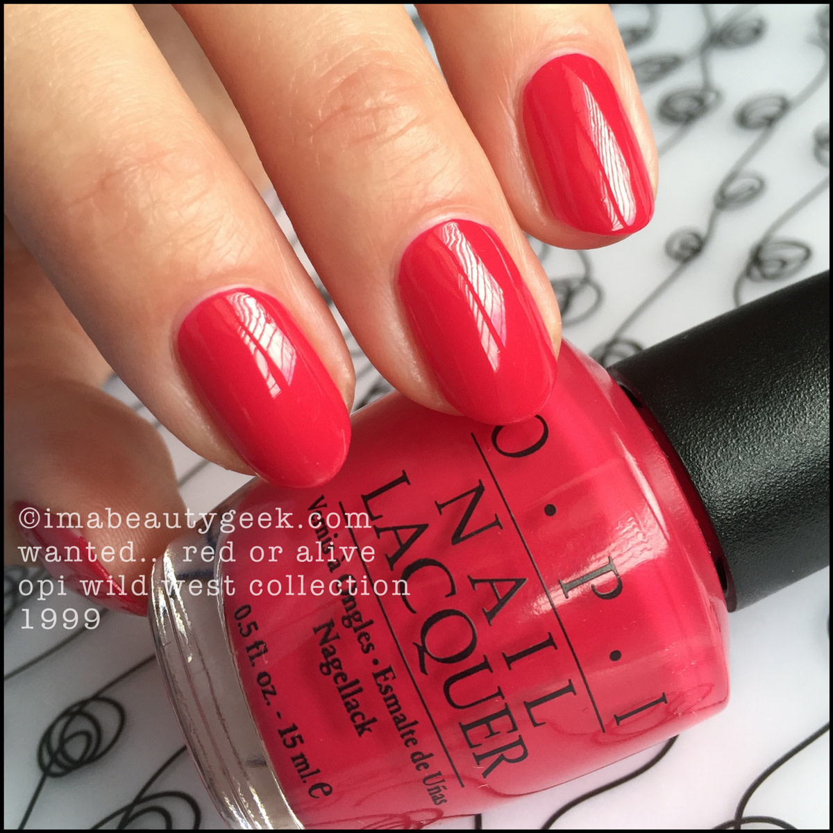 OPI Wanted Red Or Alive 1999_OPI Wild West Collection