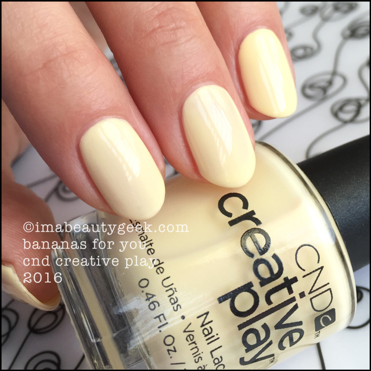 CND Creative Play Bananas For You_CND Creative Play Nail Lacquer 2016