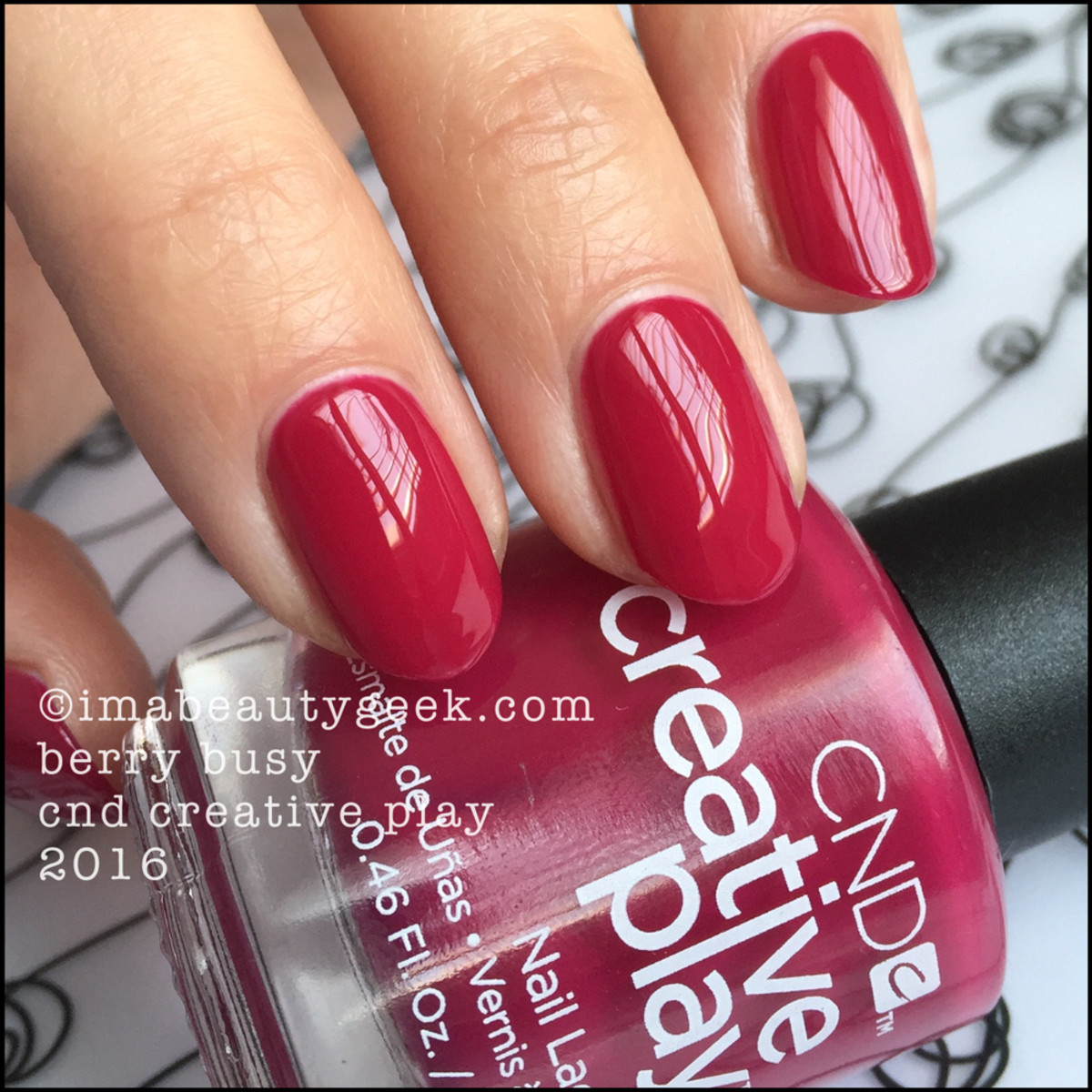 CND Creative Play Berry Busy_CND Creative Play Nail Polish Swatches 2016